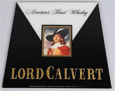 LORD CALVERT WHISKEY BEECO GLASS SIGN