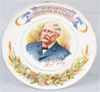 1909 FRED KRUG BREWING 50th ANNIVERSARY PLATE