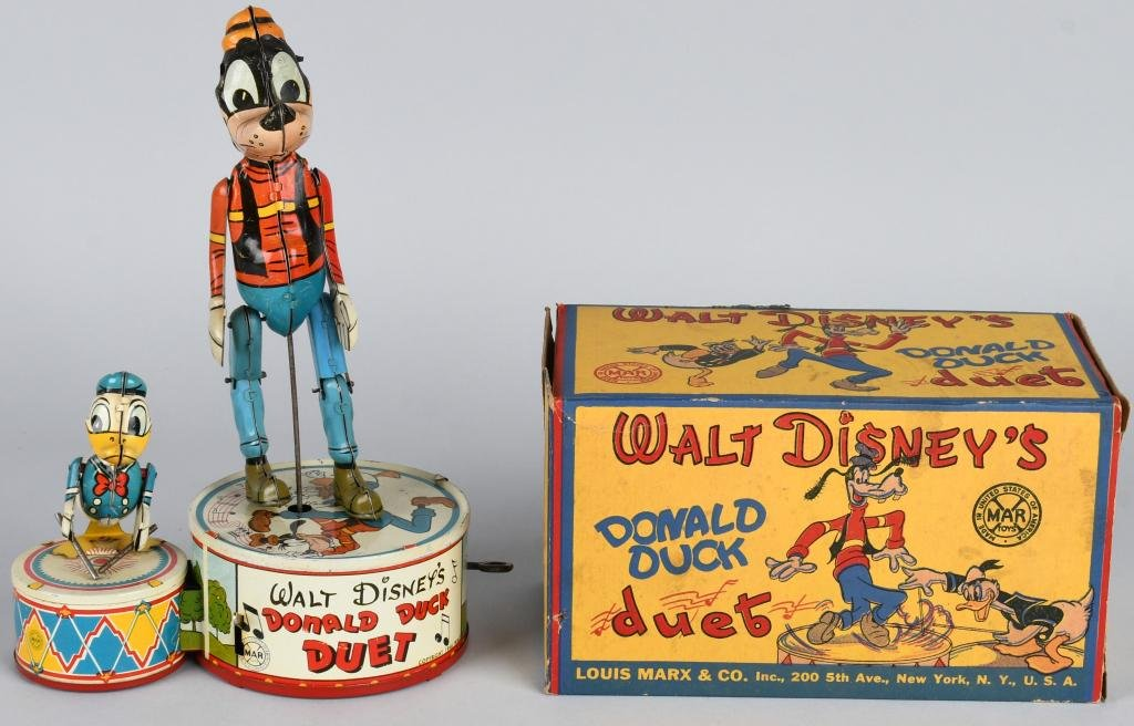 MARX TIN WINDUP DONALD DUCK DUET w/ BOX