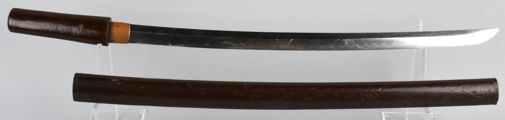 EARLY JAPANESE WAKIZASHI SWORD WITH SCABBARD