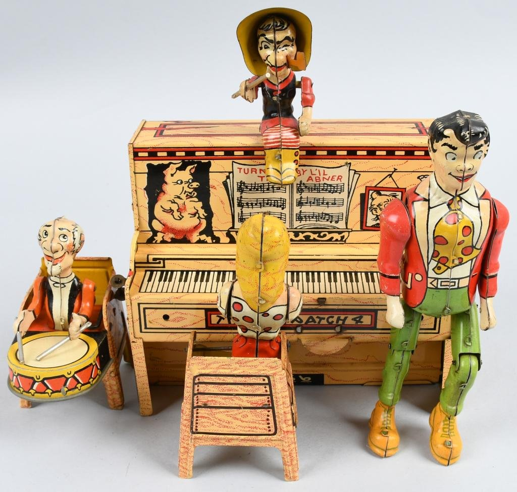 UNIQUE ART Tin Windup LIL ABNER BAND