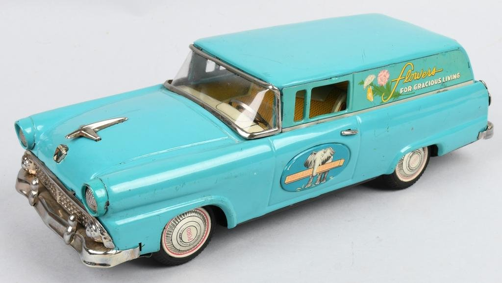 JAPAN Tin Friction 1955 FORD FLOWER WAGON
