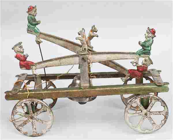 WATROUS CAST IRON DOUBLE SEE SAW BELL TOY
