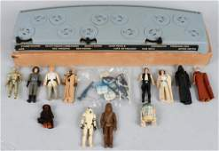 STAR WARS 1977 DISPLAY STAND w/ 12 FIGURES