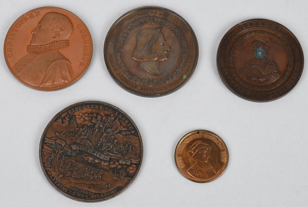 5- 1893 COLUMBIAN EXPOSITION MEDALS