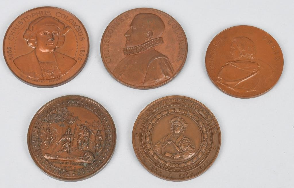 5- 1893 COLUMBIAN EXPOSITION MEDALS