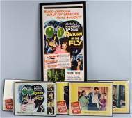 1959 RETURN OF THE FLY POSTER & 8 LOBBY CARDS