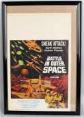 1960 BATTLE IN OUTER SPACE MOVIE POSTER