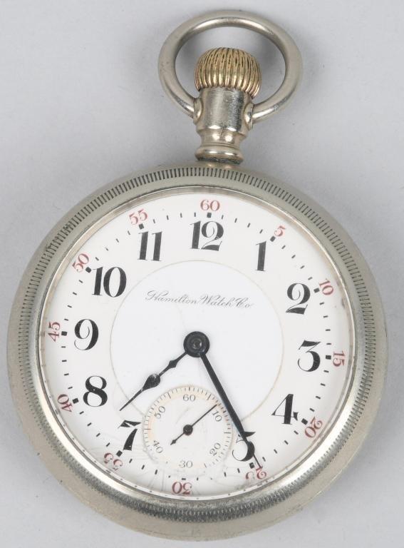 HAMILTON POCKET WATCH 18-S, 17-J, 1907