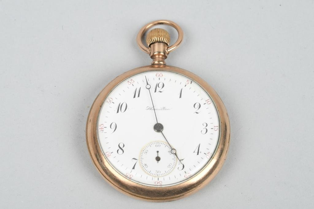 HAMILTON POCKET WATCH, 16-S, 17-J, 1911