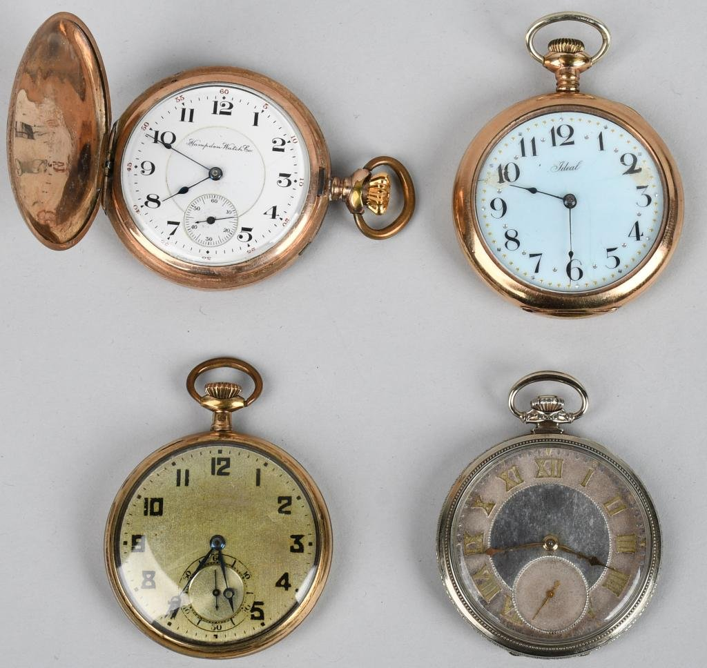4- VINTAGE POCKET WATCHES 12-S