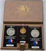 1984 OLYMPICS GOLD  SILVER COIN SET