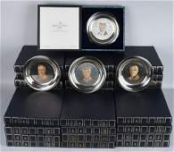 35- PRESIDENTIAL PLATES SILVER w/ GOLD INLAY