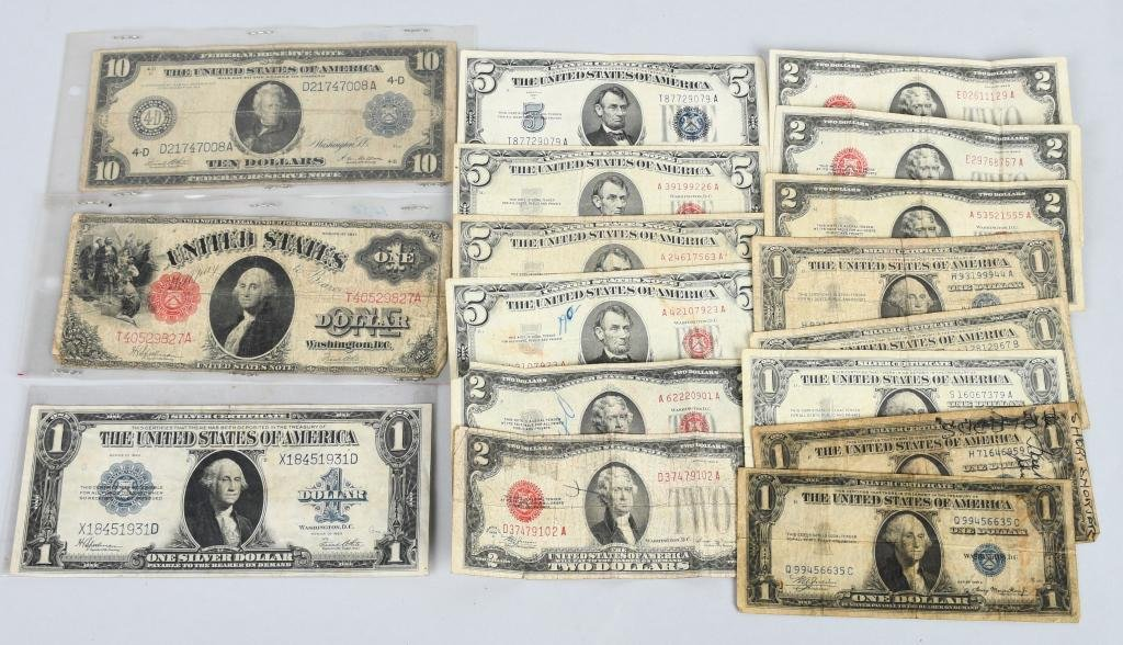 EARLY US CURRENCY & SILVER CERTIFICATES