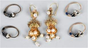 3- SETS OF VICTORIAN EAR RINGS