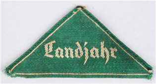 WWII NAZI GERMAN HJ/BDM LANDJAHR SLEEVE TRIANGLE