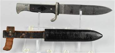 WWII NAZI GERMAN HITLER YOUTH KNIFE AND SCABBARD