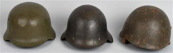 3 WWII SPANISH CIVIL WAR M 1926 COMBAT HELMETS