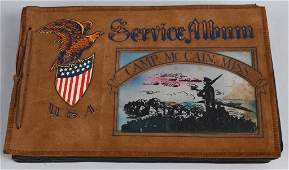 WWII US 2nd ARMY SUBMACHINE GUNNER PHOTO ALBUM