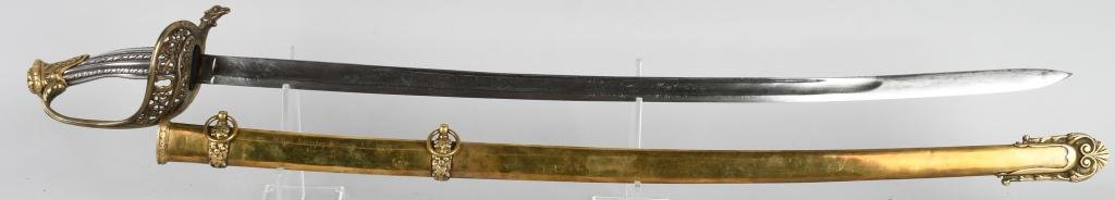CIVIL WAR SILVER HILTED PRESENTATION SWORD