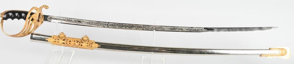 PRESENTATION M1902 NAMED OFFICER'S SWORD