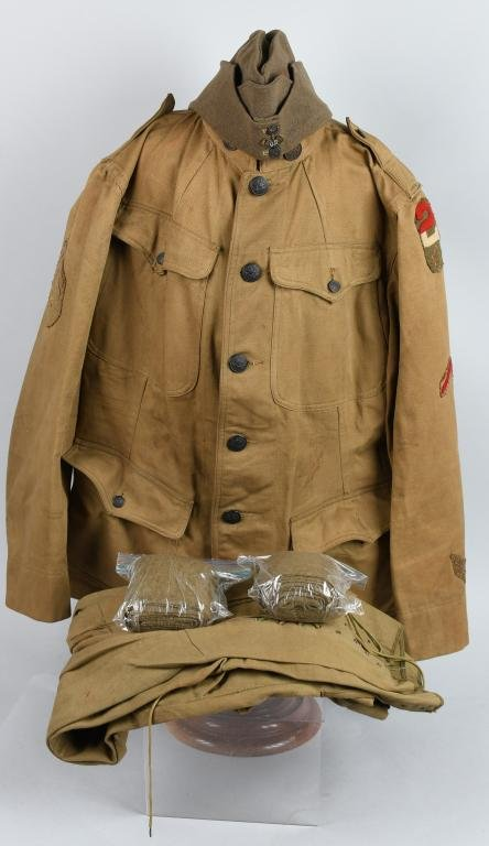WWI US SIGNAL CORPS RADIOMAN UNIFORM & HAT NAMED
