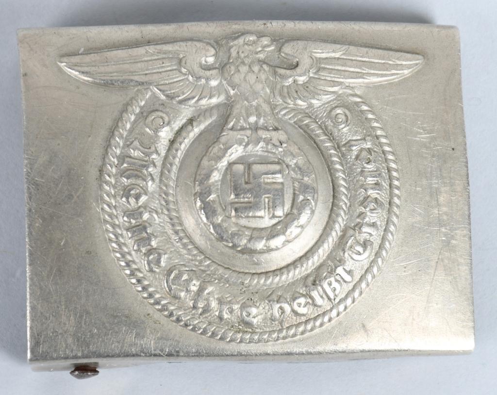 WWII NAZI GERMAN SS EM/NCO'S BELT BUCKLE O&C MKD