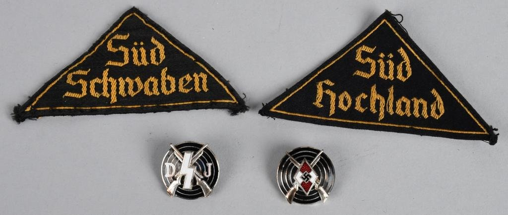 WWII NAZI GERMAN HITLER YOUTH LOT DJ INSIGNIA