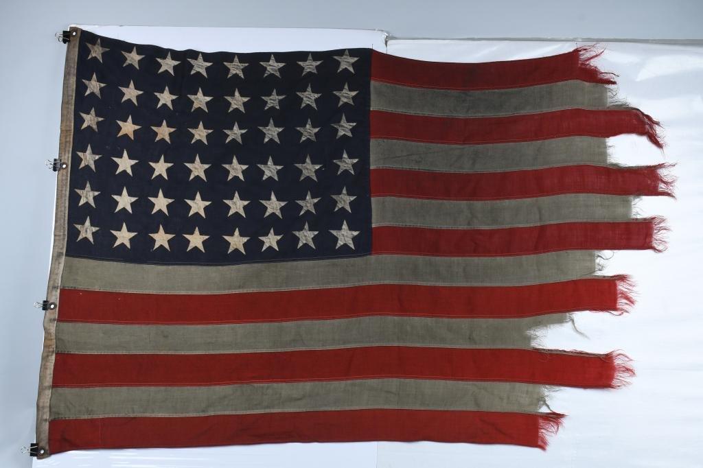 OMAHA BEACH D-Day FLAG FLOWN ON LCI LANDING CRAFT