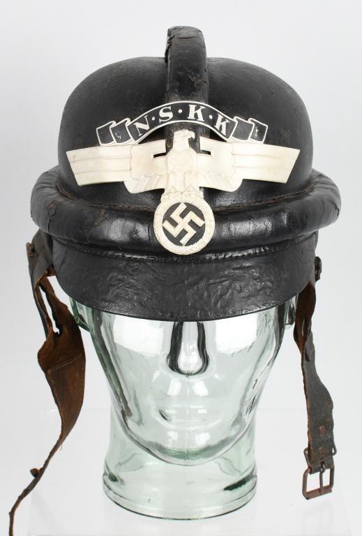 WWII NAZI GERMAN NSKK MOTORCYCLE CRASH HELMET