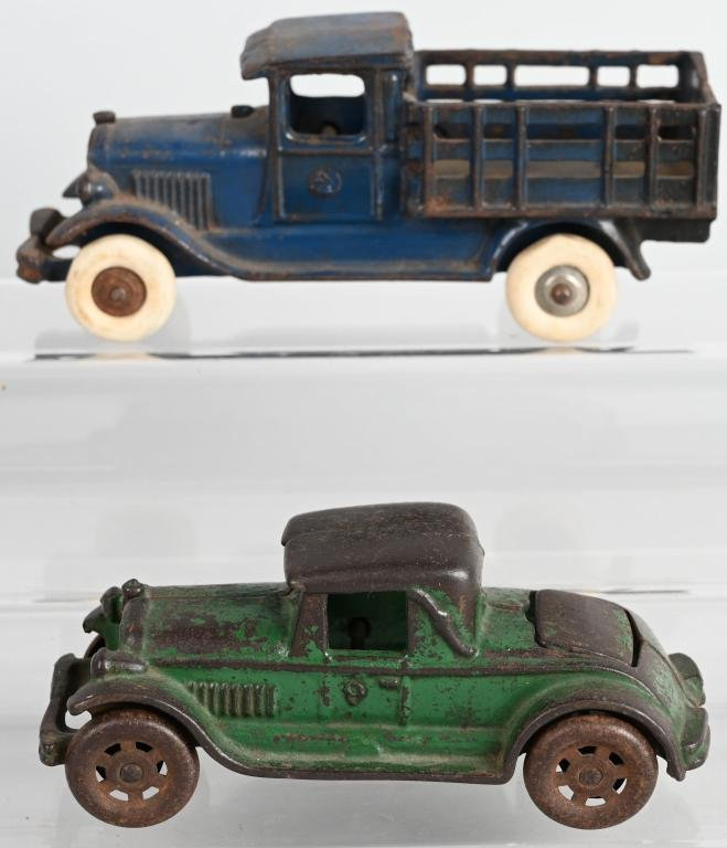 2- A.C. WILLIAMS 1920's -30's cast iron VEHICLES