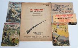 5 19230s VINTAGE WINCHESTER GUN & AMMO CATALOGS