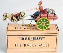 MARX TIN WINDUP HEE-HAW THE BALKY MULE w/ BOX