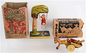 2-MARX & UNIQUE ART tin windup TOYS w/ BOXES