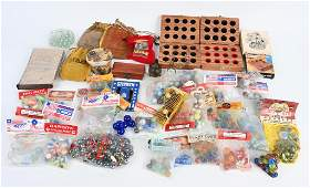LARGE LOT MARBLES & RELATED ITEMS