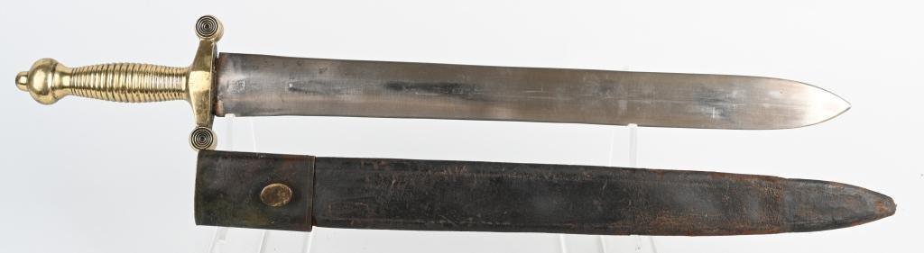 19th CENT. ARTILLERY SHORT SWORD w/ SCABBARD