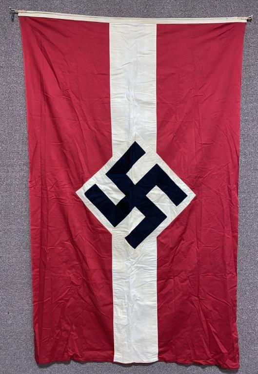WWII NAZI GERMAN HITLER YOUTH FLAG W/ TAG WW2