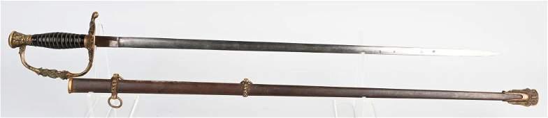GAR STAFF OFFICER SWORD  SCABBARD CLAUBERG