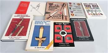 8 MILITARIA COLLECTORS' REFERENCE BOOKS