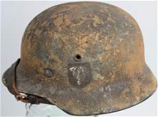 FAKE WWII TROPICAL PAINTED HELMET W/ LINER