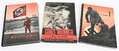 WWII NAZI GERMAN POLITCAL BOOK LOT OF 3