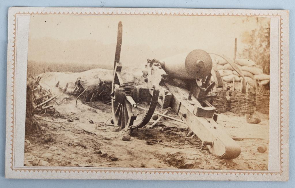 CIVIL WAR CDV OF KNOCKED OUT CONFEDERATE GUN