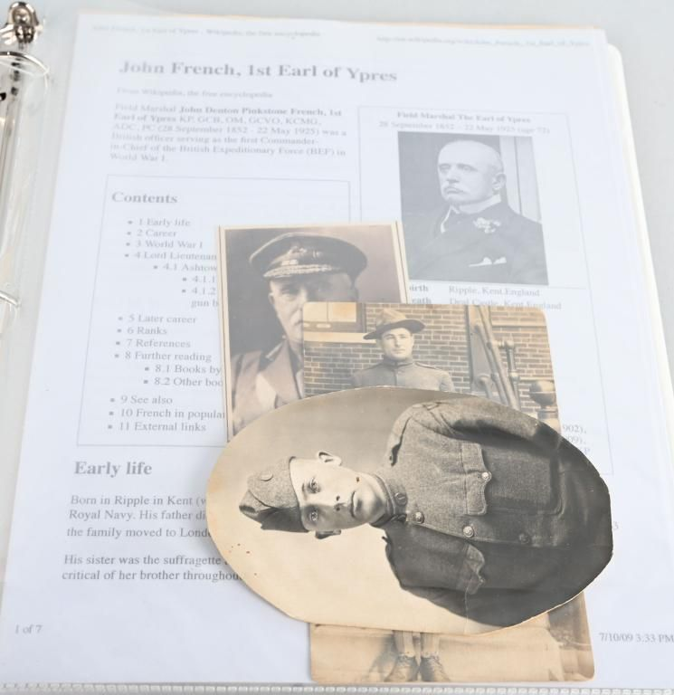 WWI & WWII US PAPER, PHOTO, DOCUMENT COLLECTION