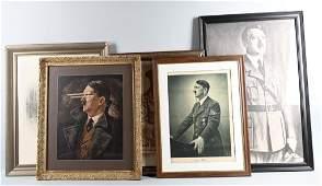 WWII NAZI GERMAN ADOLF HITLER ROMMEL PORTRAITS