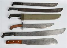 WW1 & WWII US MILITARY MACHETE LOT OF 6 SHORT & LG