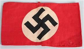 WWII NAZI GERMAN NSDAP PRINTED ARMBAND WW2
