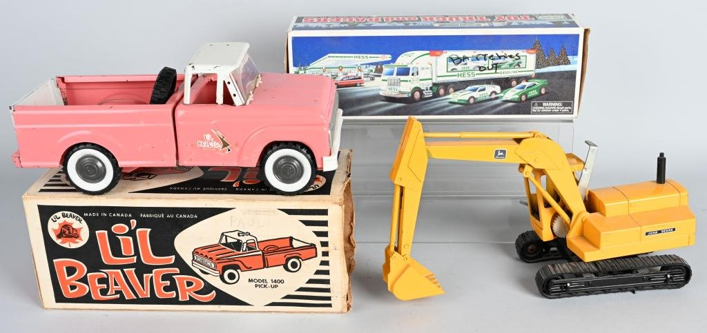 LIL BEAVER PRESSED STEEL TRUCK, BOXED & MORE