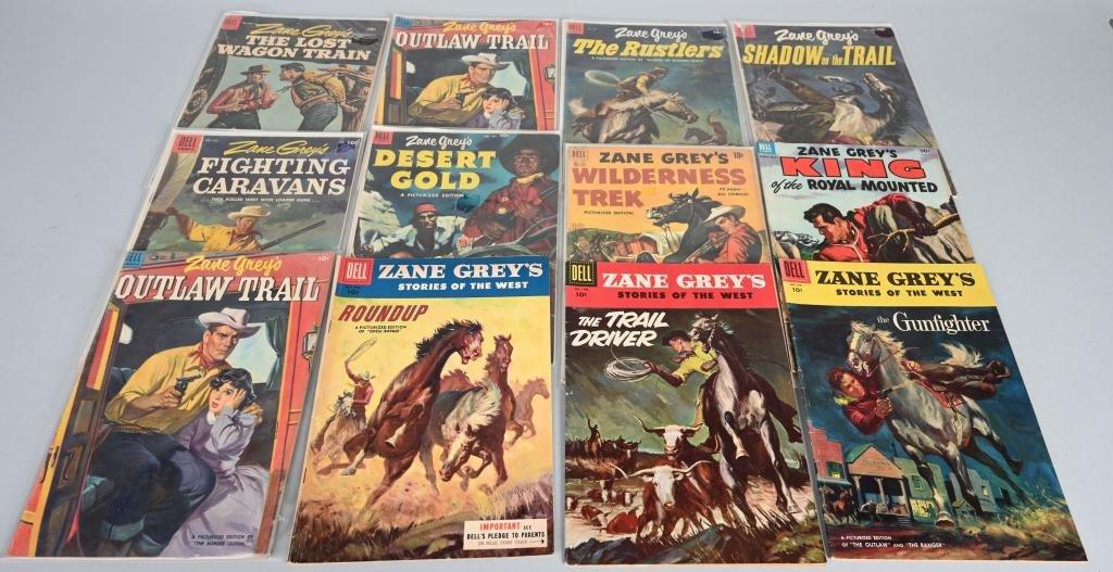 12- ZANE GREY WESTERN 10 CENT COMICS