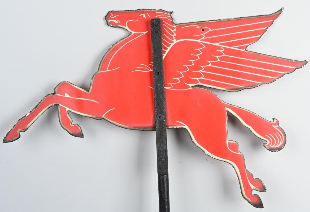 (Mobil) Pegasus Weather Vane Porcelain Sign
