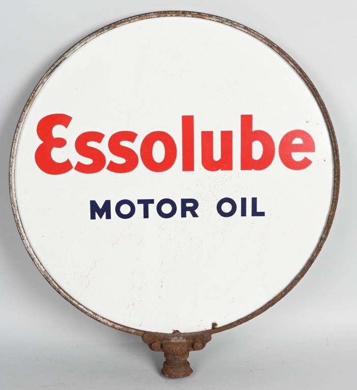Essolube Motor Oil Porcelain Sign